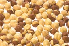 Roasted Chick Peas Isolated Royalty Free Stock Photography