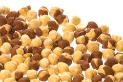 Roasted Chick Peas Isolated Royalty Free Stock Images