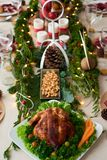 Decorated Christmas table royalty free stock photo