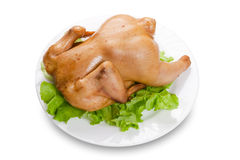 Roasted Chicken. Isolated on a white background Stock Images