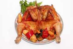 A roasted chicken Stock Images