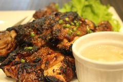 Roasted Chicken Barbecue. Served at KKK Restaurant in SM Mall of Asia, Pasay City, PH Stock Photo