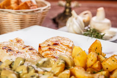 Roasted chicken breast Royalty Free Stock Photography