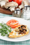 Roasted chicken breast with mushrooms Royalty Free Stock Image