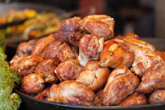Roasted chicken breast rolls Stock Photo