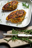 Roasted chicken breast with rosemary Royalty Free Stock Images