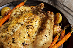 Roasted Chicken Dinner Stock Images