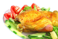 Roasted chicken drumstick Royalty Free Stock Image