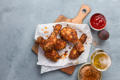 Roasted  chicken drumstick Royalty Free Stock Photography