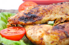 Roasted chicken drumsticks Royalty Free Stock Photo