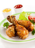 Roasted chicken drumsticks Royalty Free Stock Photos