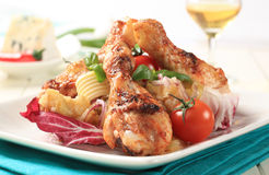 Roasted chicken drumsticks Stock Photo