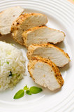 Roasted chicken fillet Stock Photography