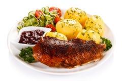 Roasted chicken fillet Stock Photos