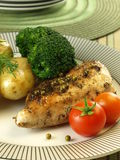 Roasted chicken fillet with vegetables Royalty Free Stock Images