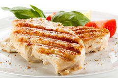 Roasted chicken fillet Stock Image