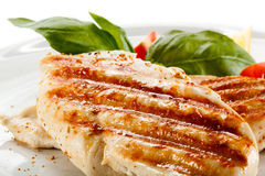 Roasted chicken fillet Royalty Free Stock Photo