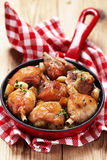 Roasted chicken with garlic Stock Photos