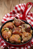 Roasted chicken with garlic Stock Photography