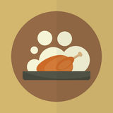 Roasted chicken icon. Stock Image