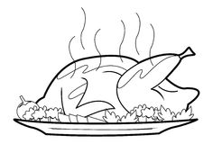 Roasted chicken. Illustrator design . eps 10 Royalty Free Illustration