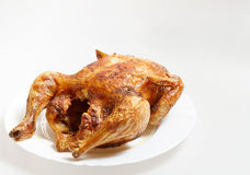 Roasted Chicken isolated on a white Royalty Free Stock Photography