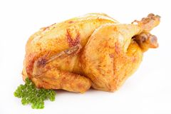 Roasted chicken isolated Royalty Free Stock Photo