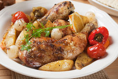 Roasted chicken leg Stock Photo