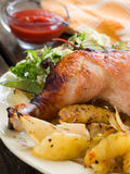 Roasted chicken leg Royalty Free Stock Photo