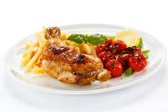Roasted chicken leg Stock Photos