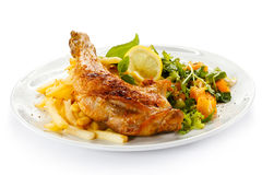 Roasted chicken leg Royalty Free Stock Photos