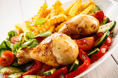 Roasted chicken leg Royalty Free Stock Photography