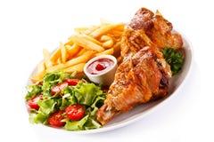 Roasted chicken leg Stock Image