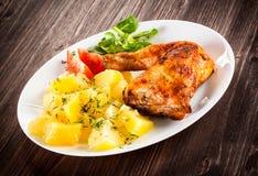 Roasted chicken leg Stock Photo