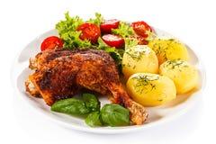 Roasted chicken leg Royalty Free Stock Photo