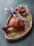 Roasted chicken leg Stock Image