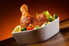 Roasted chicken leg Royalty Free Stock Image