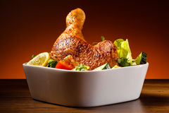 Roasted chicken leg Royalty Free Stock Image
