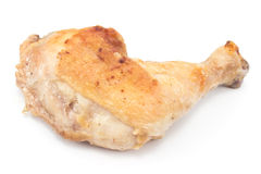 Roasted chicken leg Stock Photos