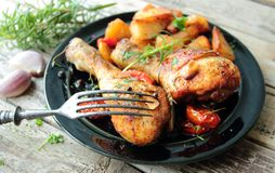 Roasted chicken legs Royalty Free Stock Image