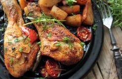 Roasted chicken legs Stock Image