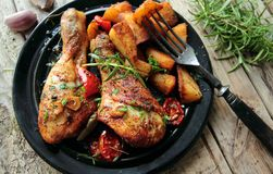 Roasted chicken legs Royalty Free Stock Photography