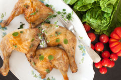 Roasted Chicken Legs Marjoram Flavored Royalty Free Stock Image