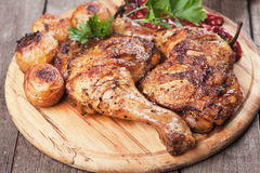 Roasted chicken legs Stock Photography