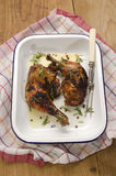 Roasted chicken legs with rosemary Stock Photos