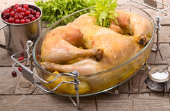 Roasted chicken legs Royalty Free Stock Images