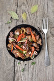 Roasted chicken liver with pepper Royalty Free Stock Images