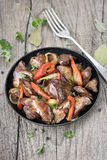 Roasted chicken liver Royalty Free Stock Photo
