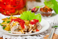 Roasted chicken meat Royalty Free Stock Image