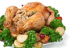 Roasted Chicken with Parsley Stock Images
